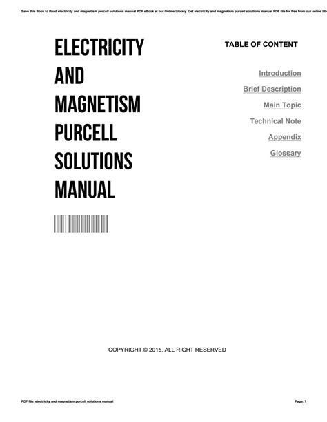 Electricity And Magnetism 3rd Edition Solutions Manual