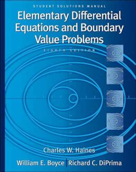 Elementary Differential Equations Boyce Solutions Manual