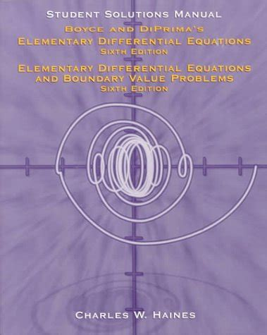 Elementary Differential Equations Solutions Manual Boyce