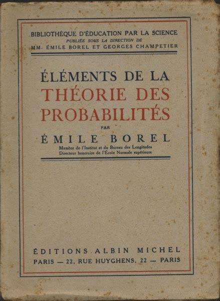 Elements de theorie moderne des probabilites