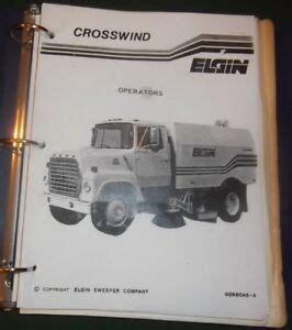Elgin Crosswind Sweeper Manual