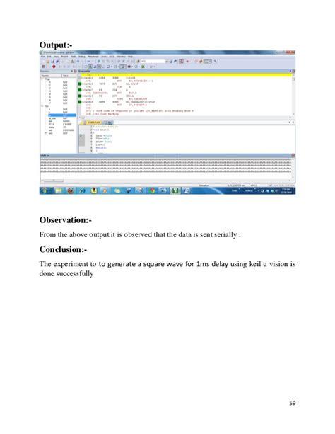 Embedded System Lab Manual Using Keil