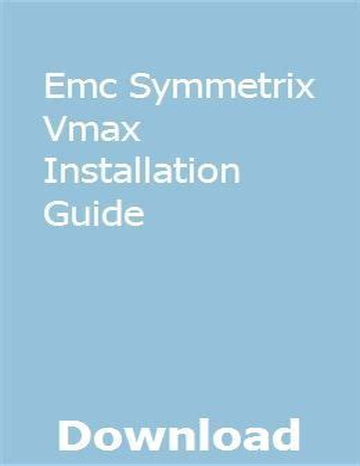 Emc Dmx Installation Guide