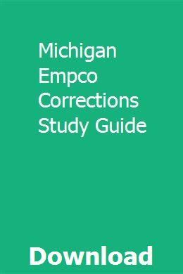 Empco Corrections Study Guide