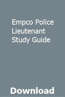 Empco Police Lieutenant Study Guide