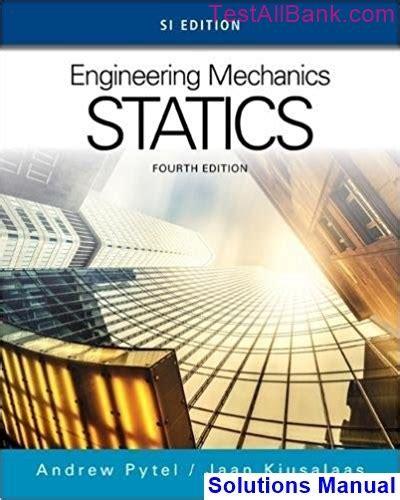 Engineering Mechanics Statics Solutions Manual Pytel