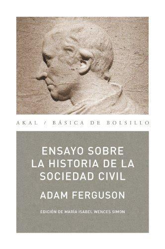 Ensayo Sobre La Historia De La Sociedad Civil Basica De Bolsillo