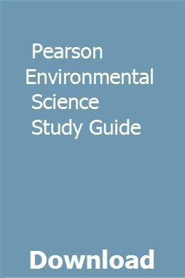 Environmental Science Pearson Study Guide