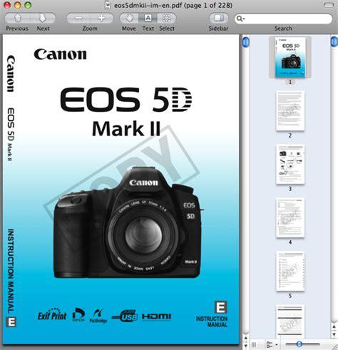 Eos 5d Mark Ii Manual