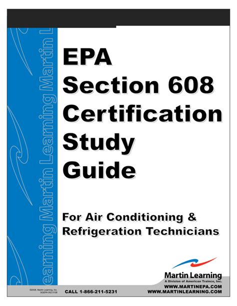 Epa Section 608 Certification Study Guide