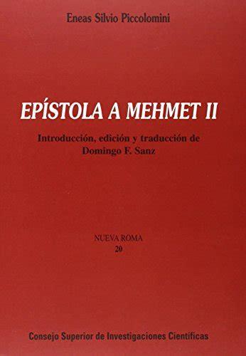 Epistola A Mehmet Ii Nueva Roma