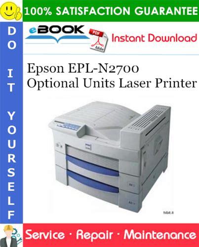 Epson Epl N2700 Laser Printer Service Repair Manual