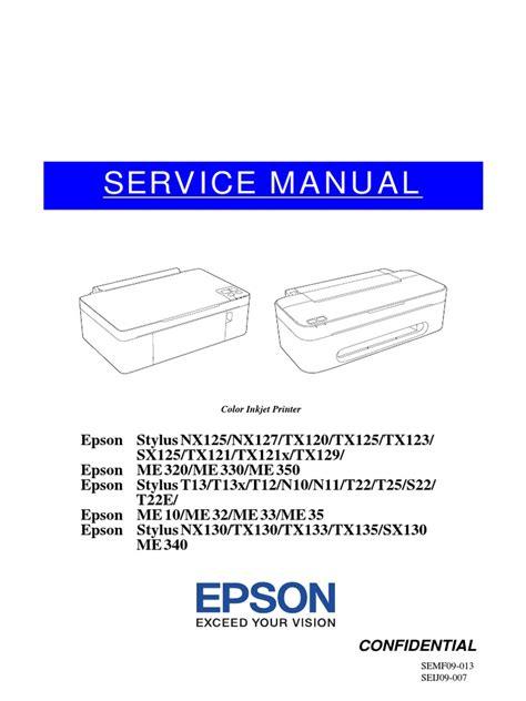 Epson Printer Nx130 Manual