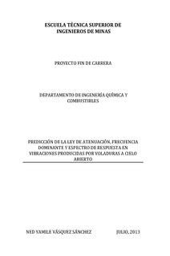 Espectros De Respuesta En Voladuras Subacuaticas Analisis Y Prediccion
