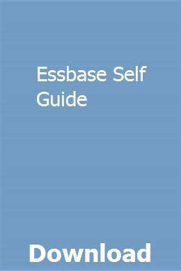 Essbase Self Guide
