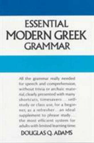 Essential Modern Greek Grammar Dover Language Guides Essential Grammar