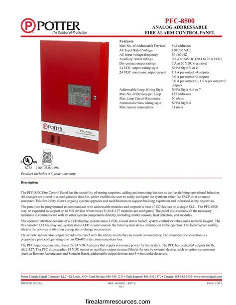 Est 8500 Fire Alarm Panel Manual