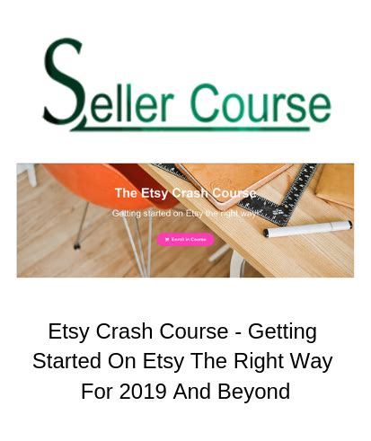 Etsy Crash - Getting Started On Etsy The Right Way For 2019 And Beyond