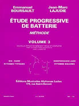 Etude Progressive de Batterie - Volume 3