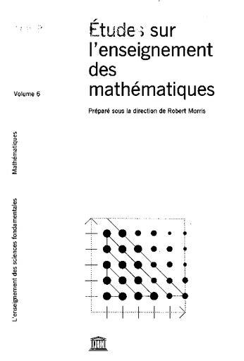 Etudes sur l'enseignement des mathématiques, volume 7. L'enseignement de la statistique