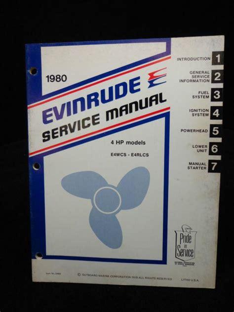 Evinrude 4 Hp 1980 Repair Manual