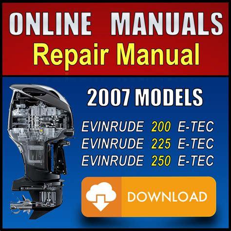 Evinrude Etec 200 Hp Manual 2007