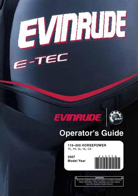 Evinrude Etec 60 Service Manual