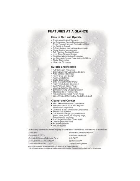 Evinrude Etec Service Manual 2005 40 Hp