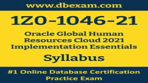 Exam 1Z0-1046-21 Details