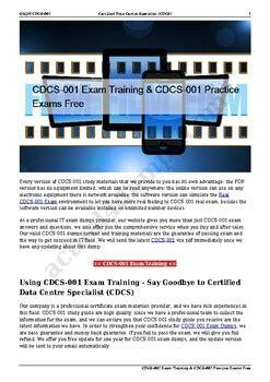 Exam CDCS-001 Guide
