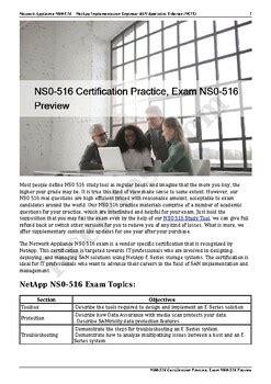 Exam NS0-516 Sample