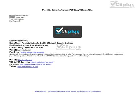 Exam PCNSE Pass4sure