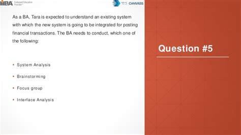 Exam Sample ECBA Questions