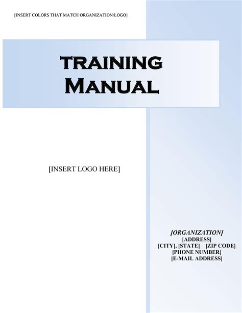 Example Manual Template