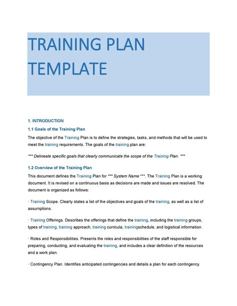Example Training Guide