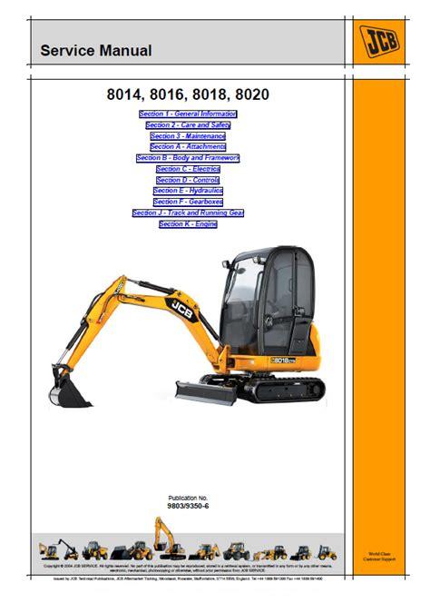 Excavator Jcb Service Manual