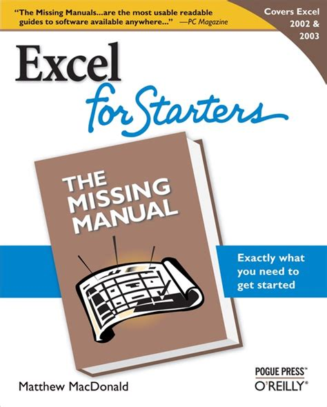 Excel 2003 Starters The Missing Manual