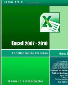 Excel 2007 2010 Fonctionnalites Avancees