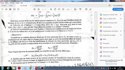 Exercices de mécanique quantique
