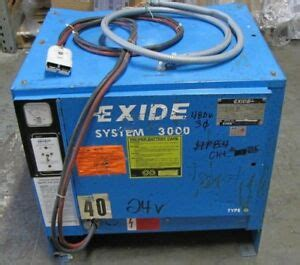 Exide System 3000 Battery Charger Manual