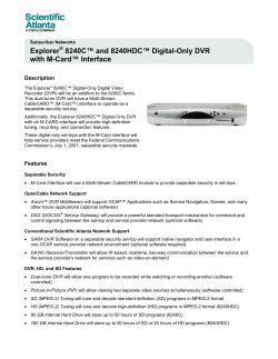Explorer 8240hdc User Manual