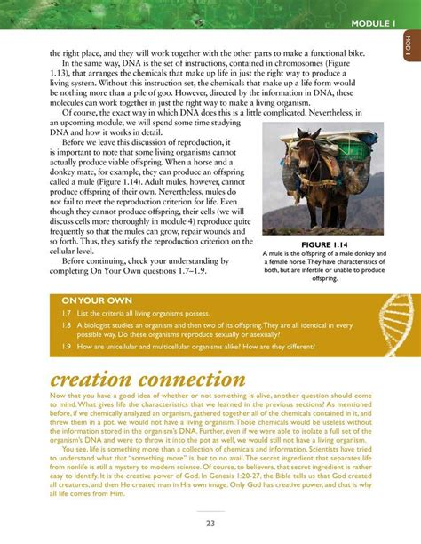 Exploring Creation With Biology Module1 Study Guide