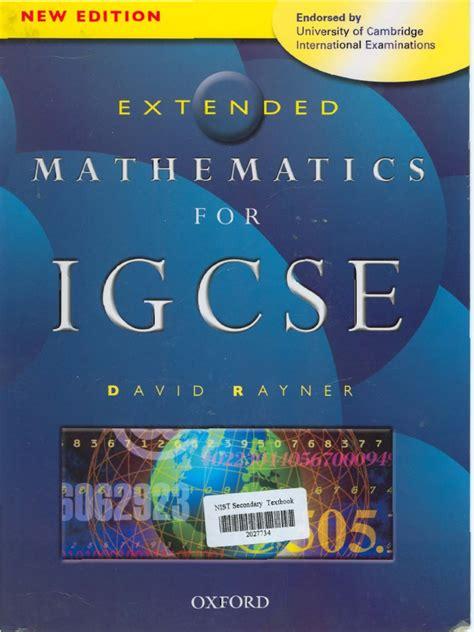 Extended Mathematics Igcse David Rayner Guide
