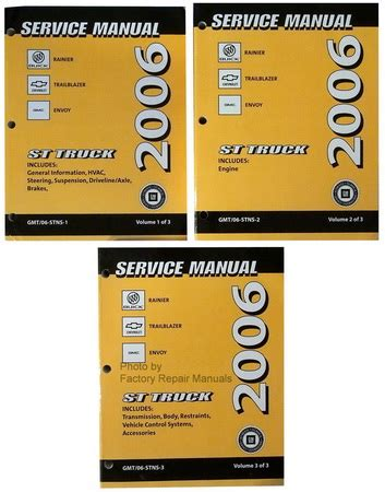 Factory Manuals Service Trail Blazer 2006