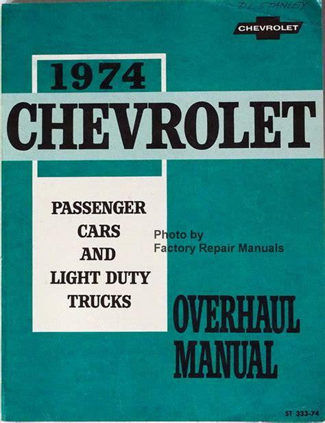 Factory Service Manual Chevy Van
