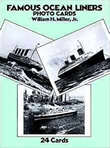 Famous Ocean Liners Photo Postcards Card Books