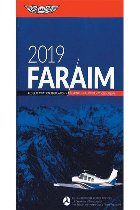 Far Aim 2019 Federal Aviation Regulations Aeronautical Information Manual Far Aim Series