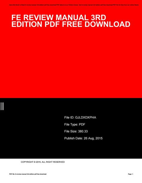 Fe Review Manual 2015