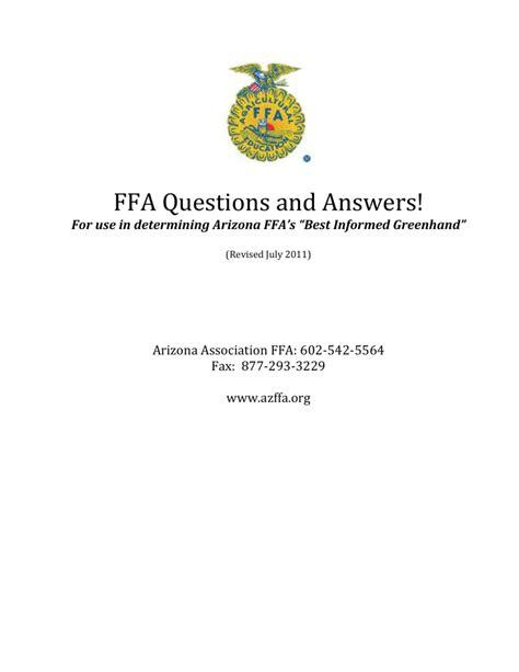Ffa Guide Answers