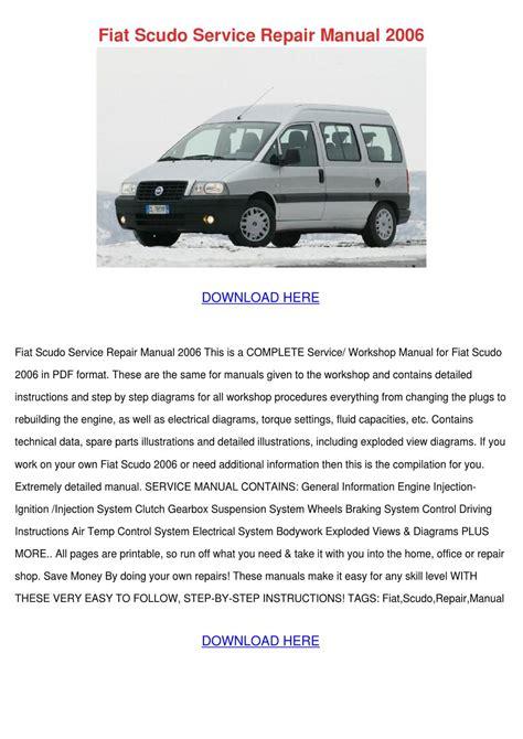 Fiat Scudo Drivers Manual